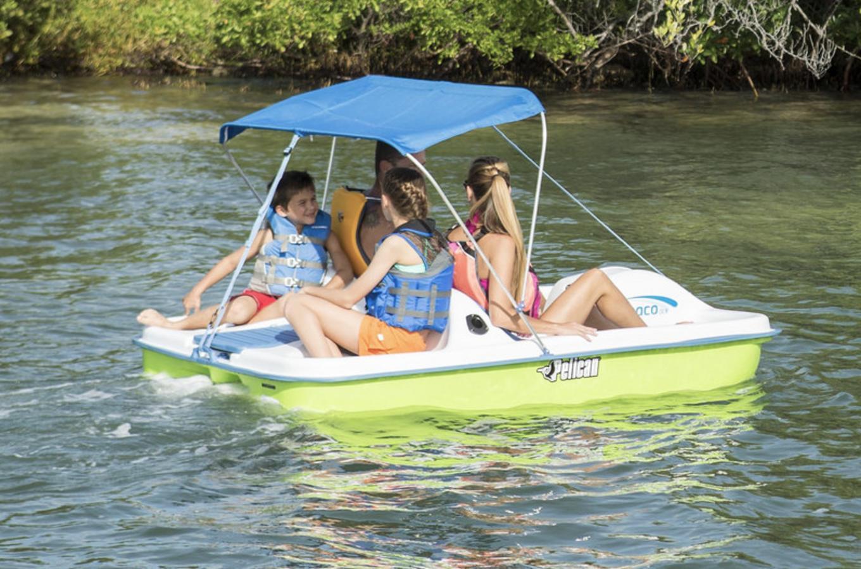 Family in Pedal Boat