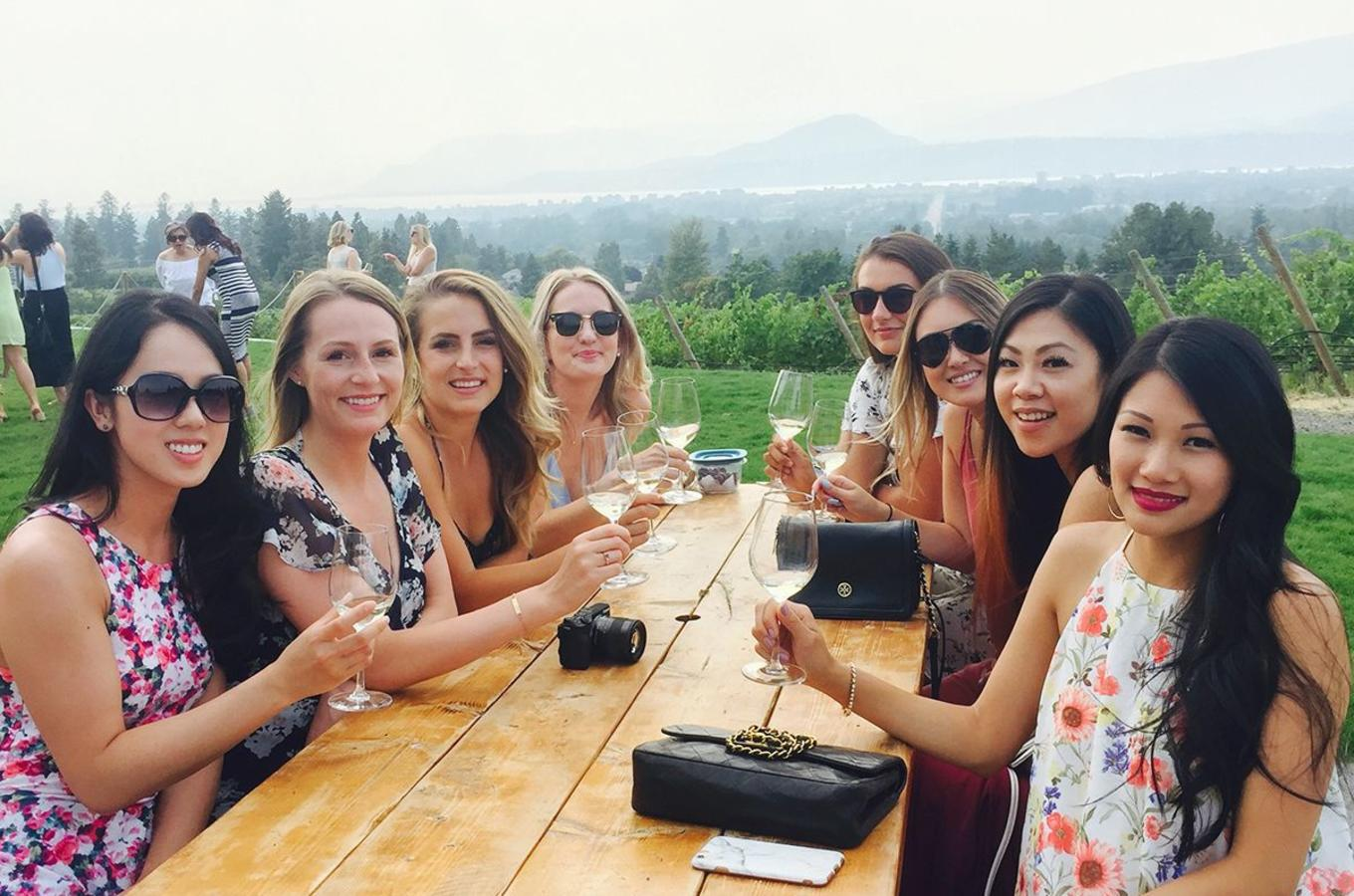 Wine Tasting in Vineyard - Kitsch Wines - Kelowna Wine Tour