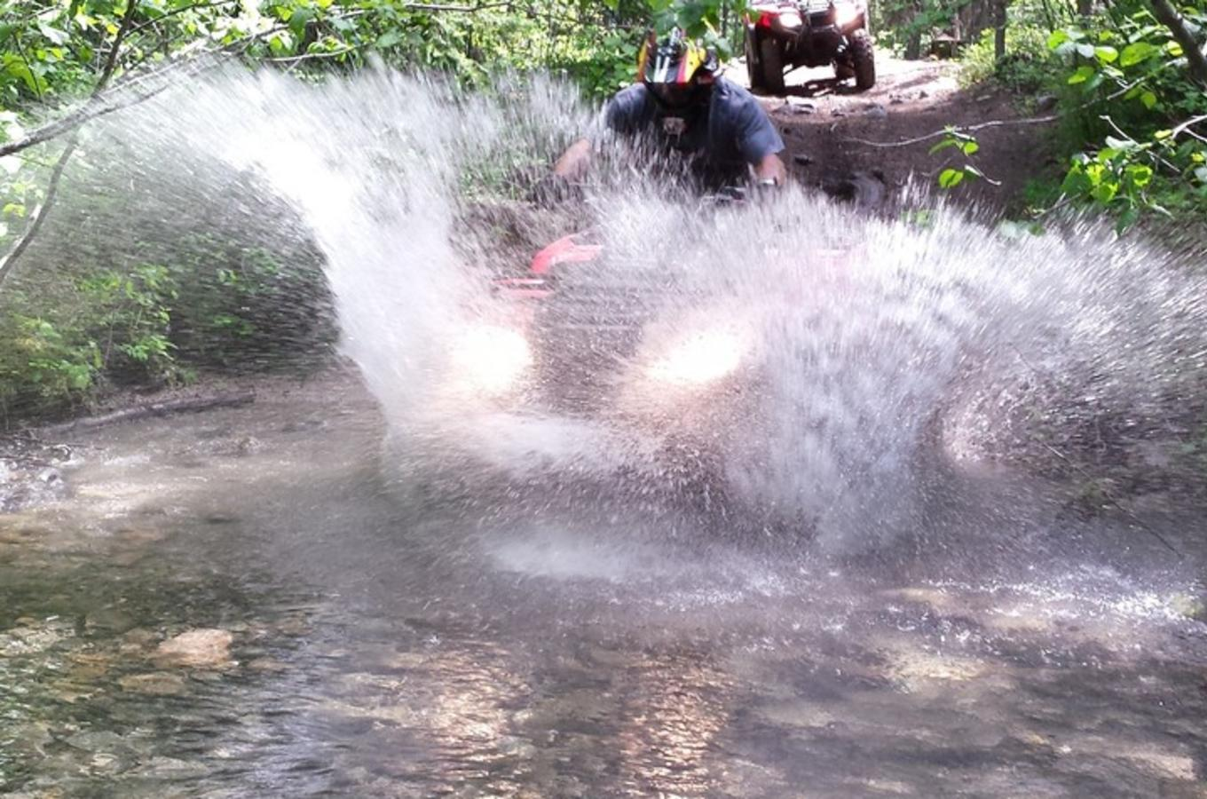 Okanagan ATV Tours Getting Wet