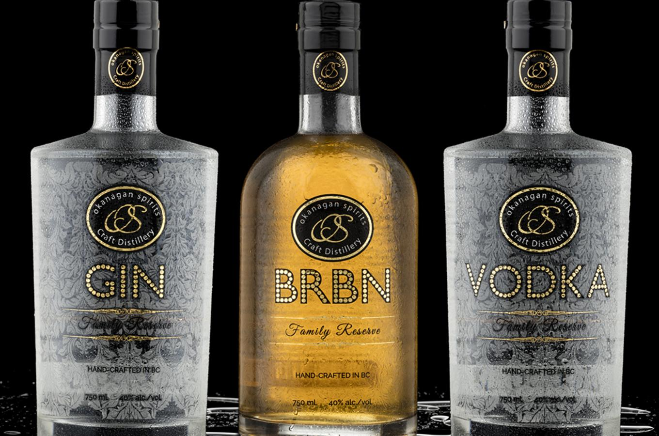 Family Reserve Gin, Vodka and BRBN