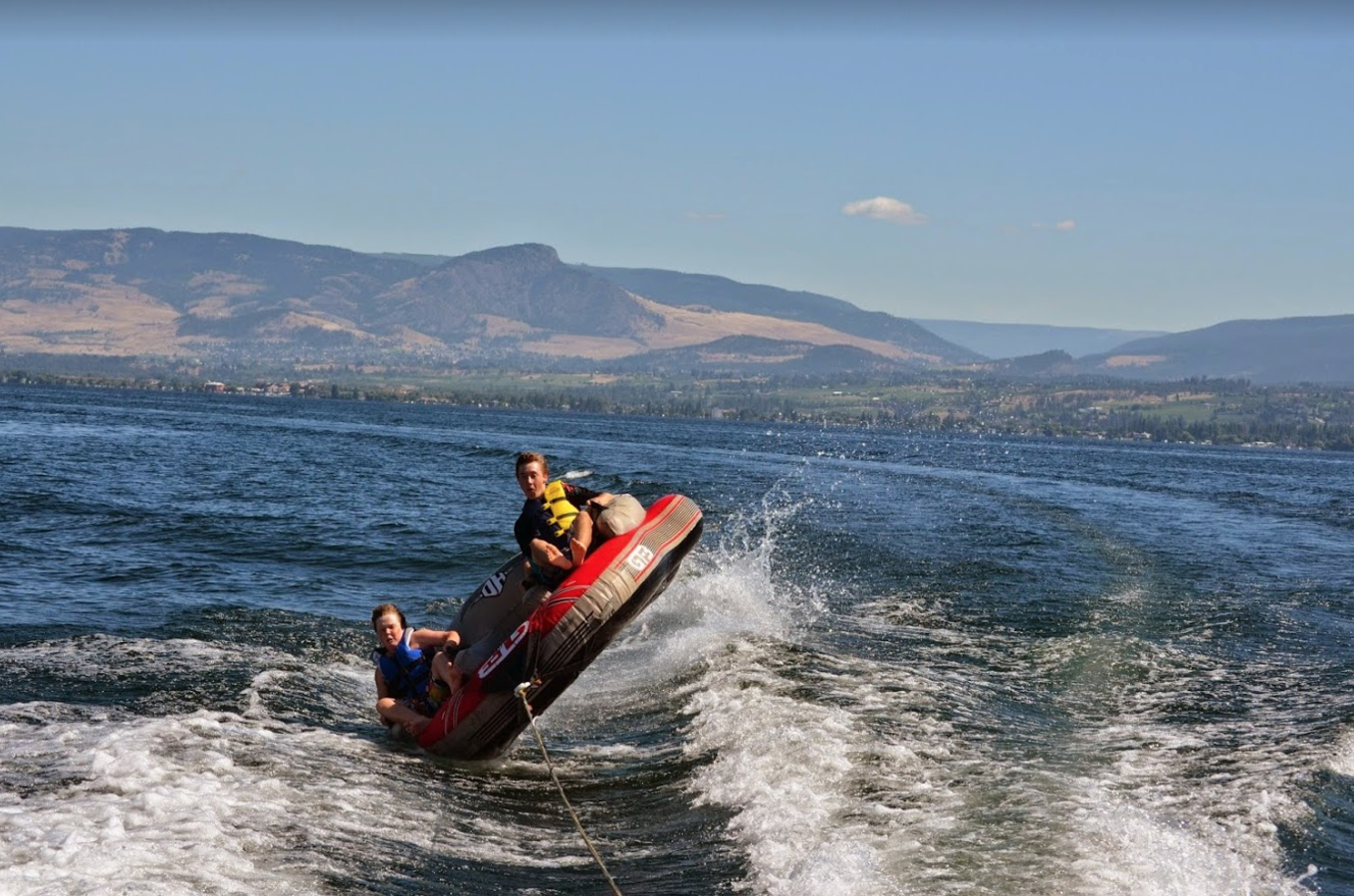 Tubing on Okanagan Lake