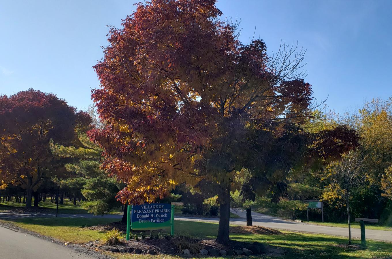 Wruck Pavilion sign Prairie Springs Park