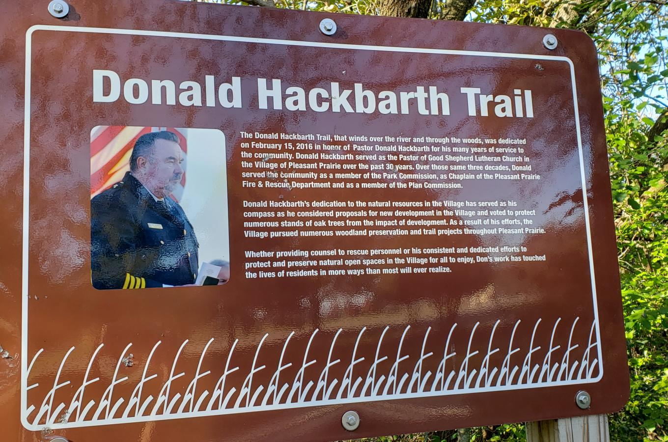 Hackbarth Entrance Sign