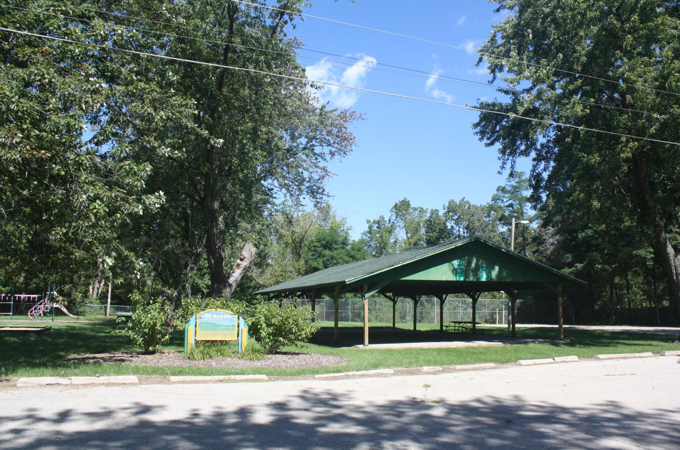 Carol Beach Park sign and shelter V Pic