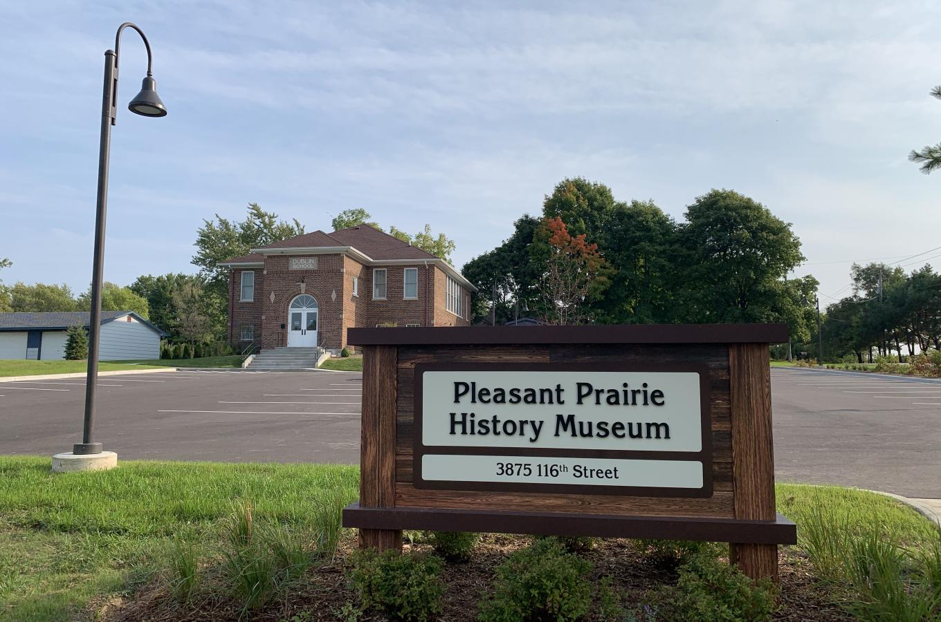 Entrance at the Pleasant Prairie History Museum