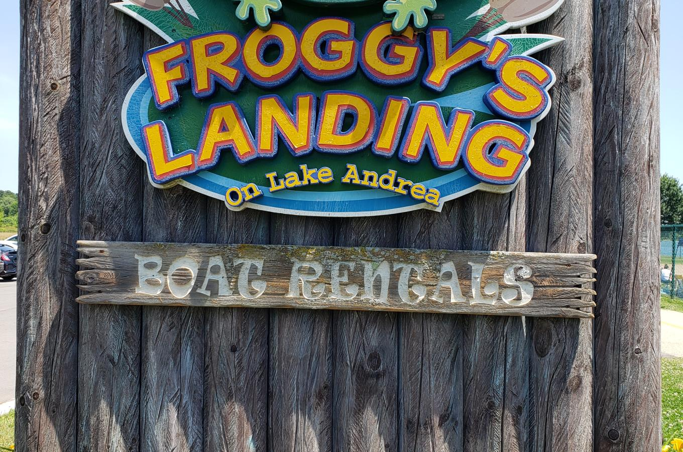 Froggy's Landing sign