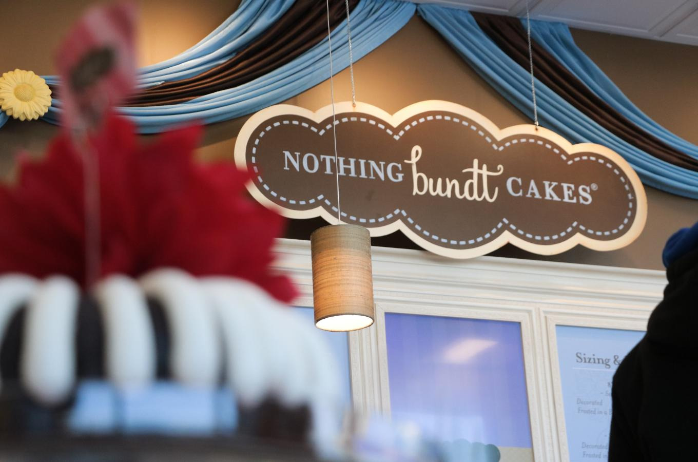 Nothing Bundt Cakes Display Cake and sign