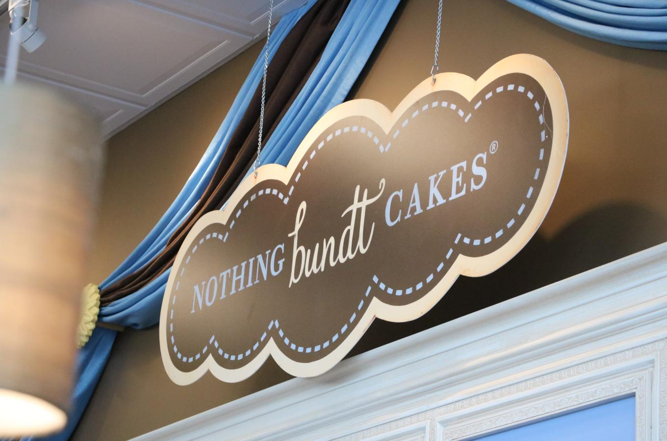 Nothing Bundt Cakes Inside Sign