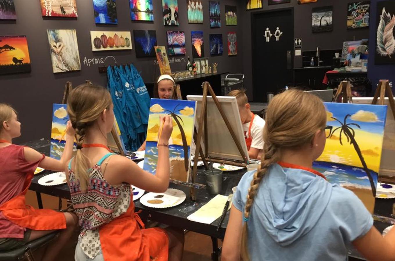 Pinot's Palette Kids Painting Beach