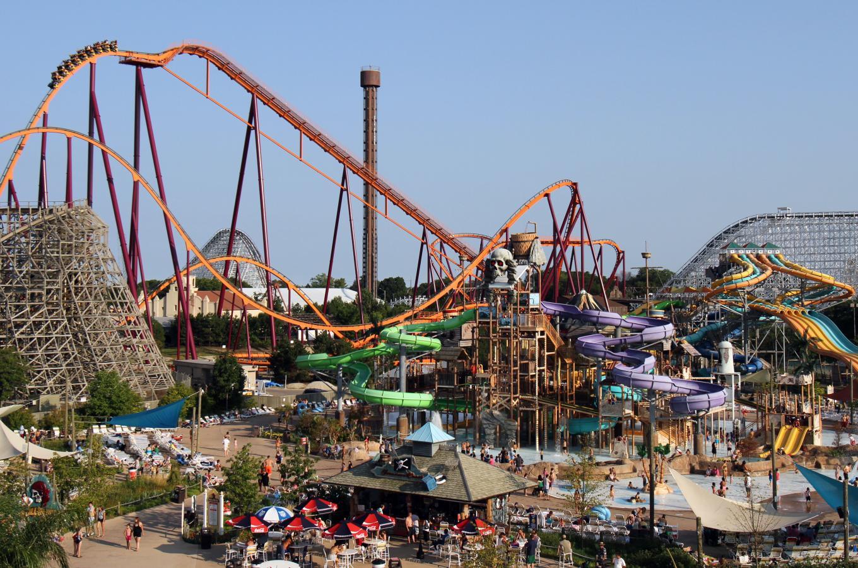 Six Flags Park vista shot