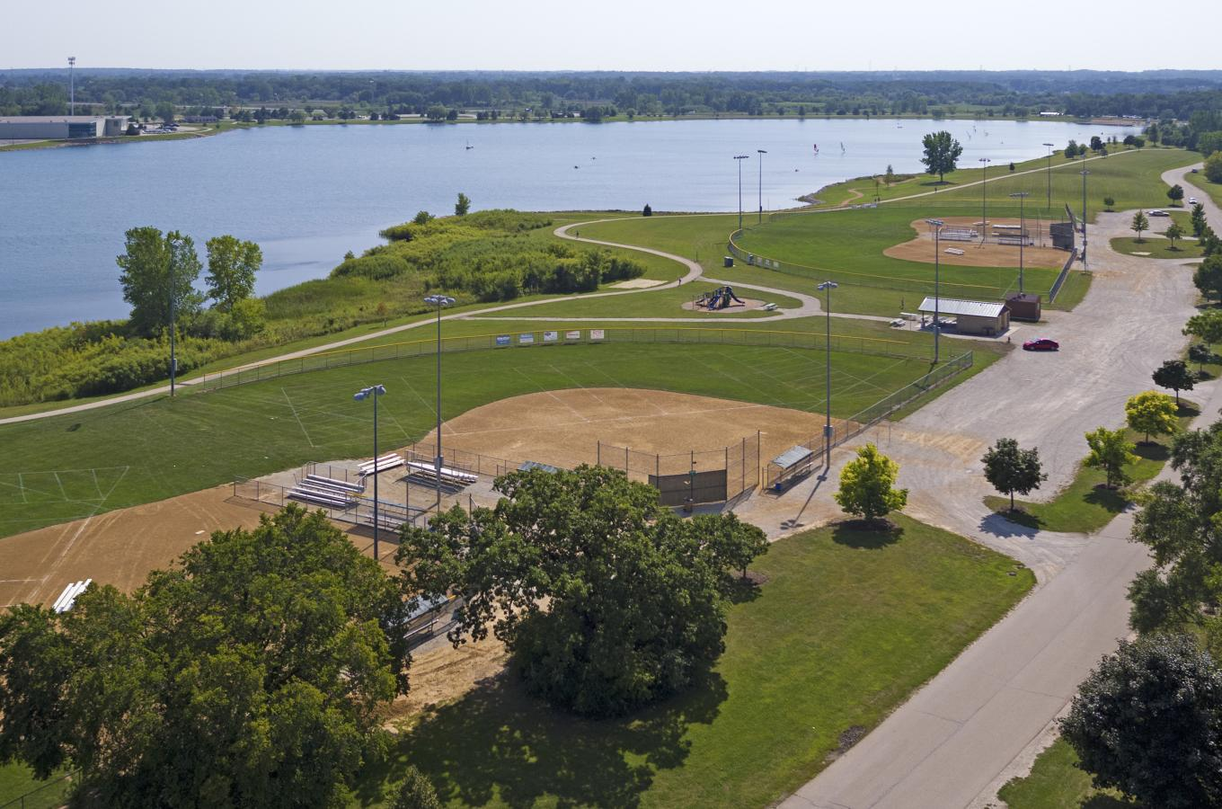 Drone of Ball Fields - Lake Andrea