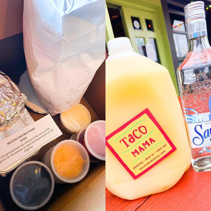Food and margaritas to go at Taco Mama in Huntsville