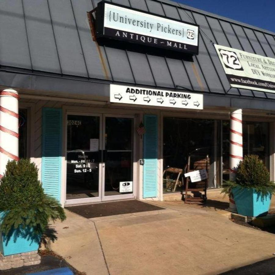 University Pickers is a beloved antiques store across the from the Unclaimed Baggage Center.