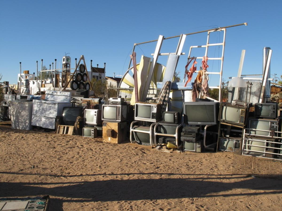 A sculpture at the Noah Purifoy Outdoor Museum in Joshua Tree.