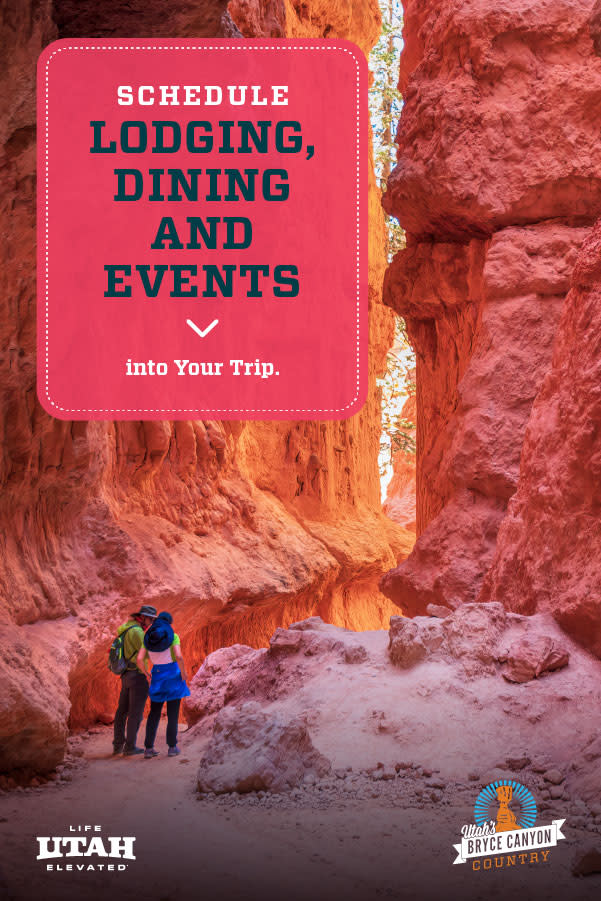 Using the new Bryce Canyon Country Plan Your Trip feature on our website is simple and can be done in three steps. Explore the site. Add lodging, dining and events to the plan. Then, share the link with family and friends so they can view the plan too!