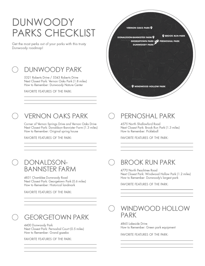 Parks Checklist Image