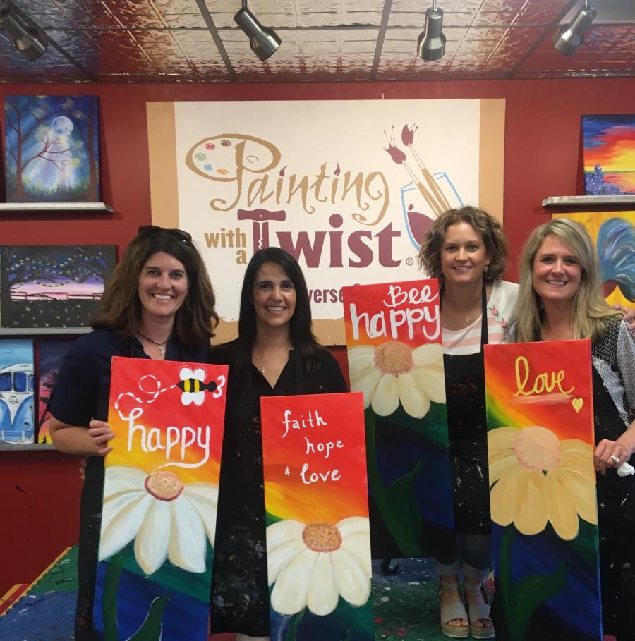 Painting with a Twist - Girls Night Out in Traverse City
