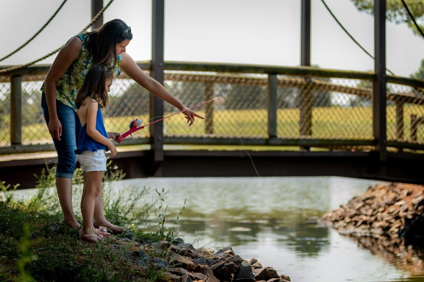 Fishing at Lake Tobias