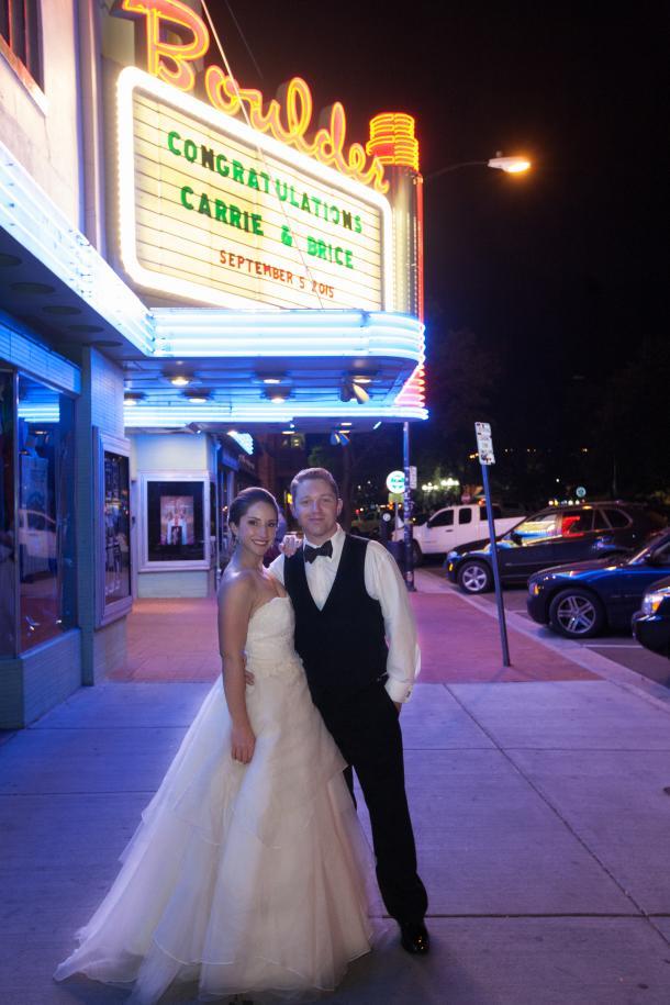 Boulder Theater Wedding