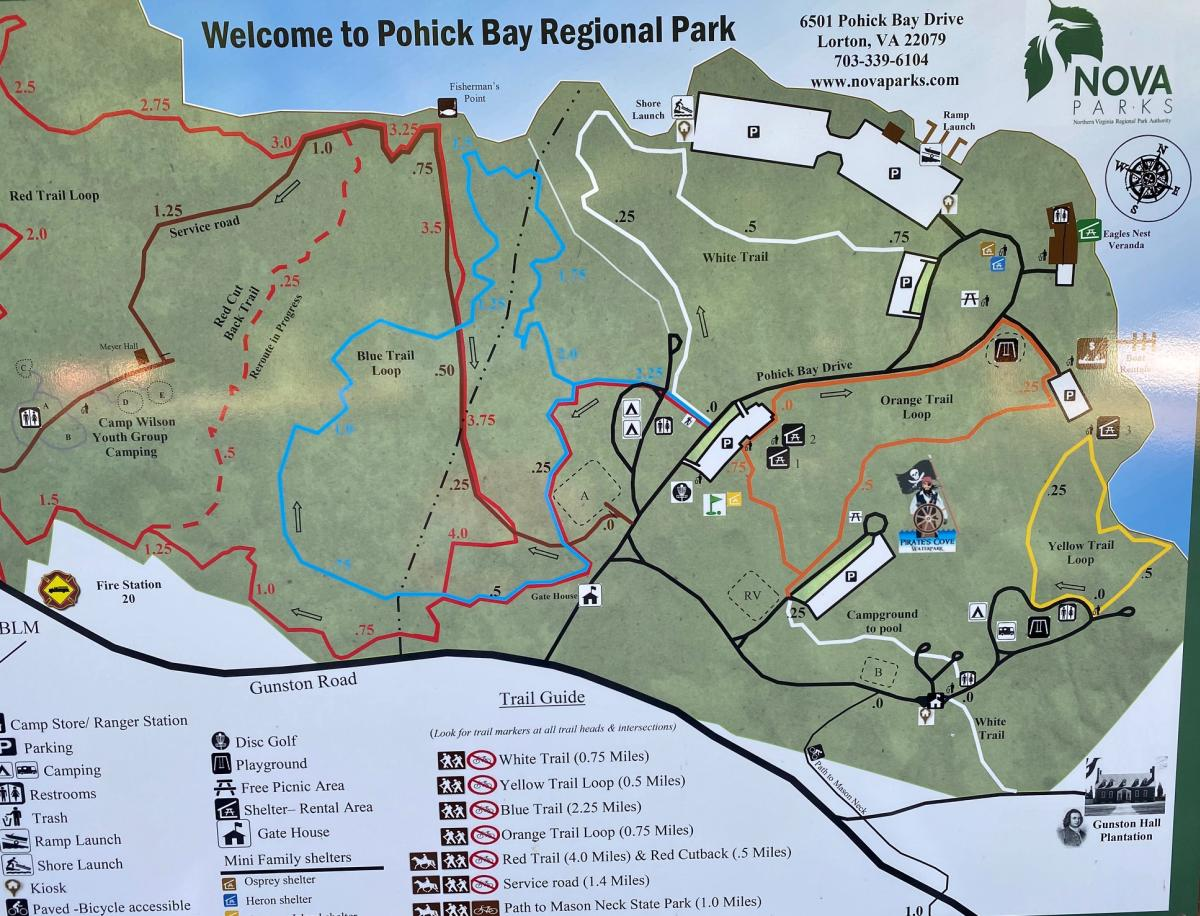 Map of Pohick Bay Regional Park
