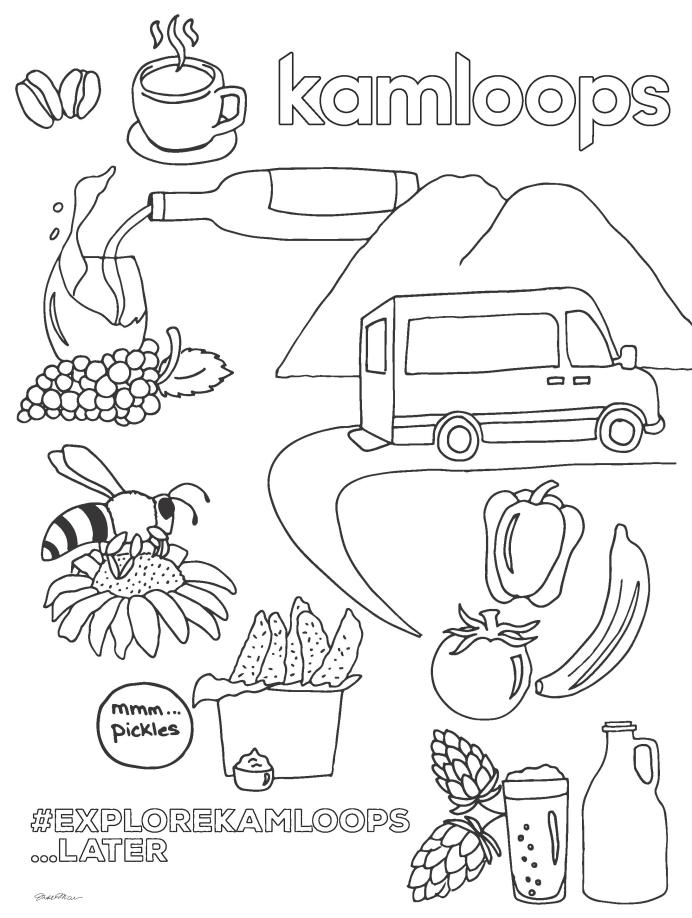 Flavours Colouring Sheet