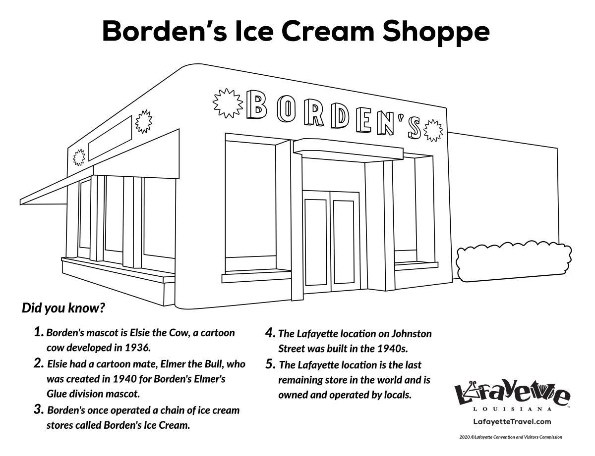 Borden's Coloring Sheet