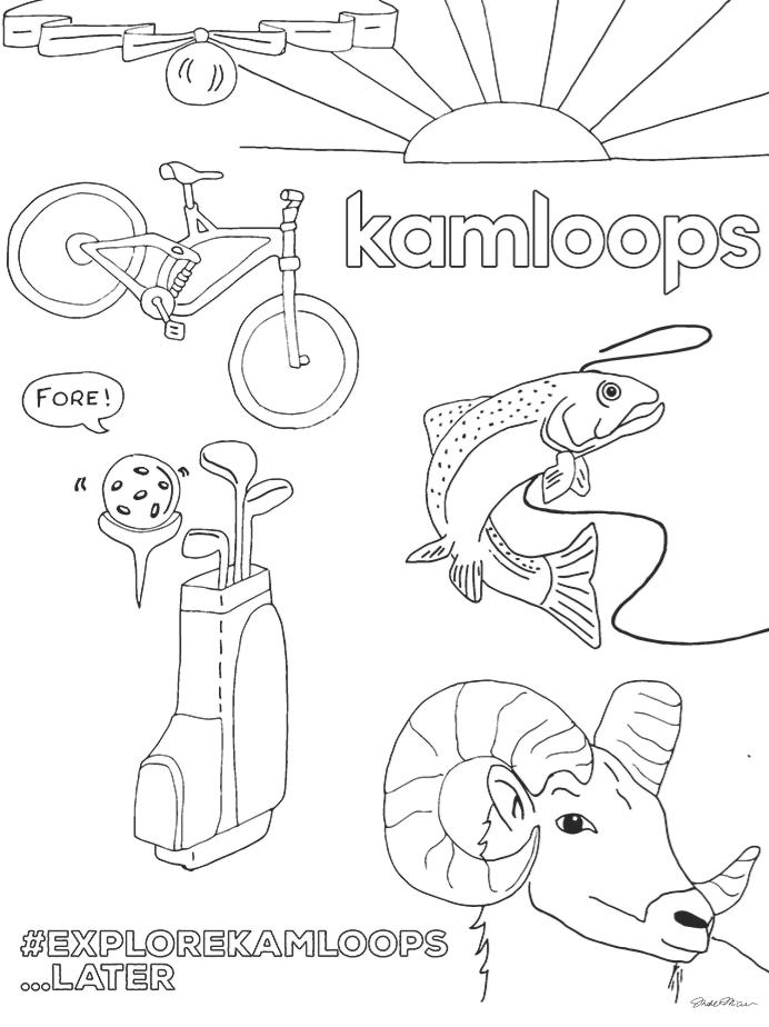 Kamloops Colouring Page