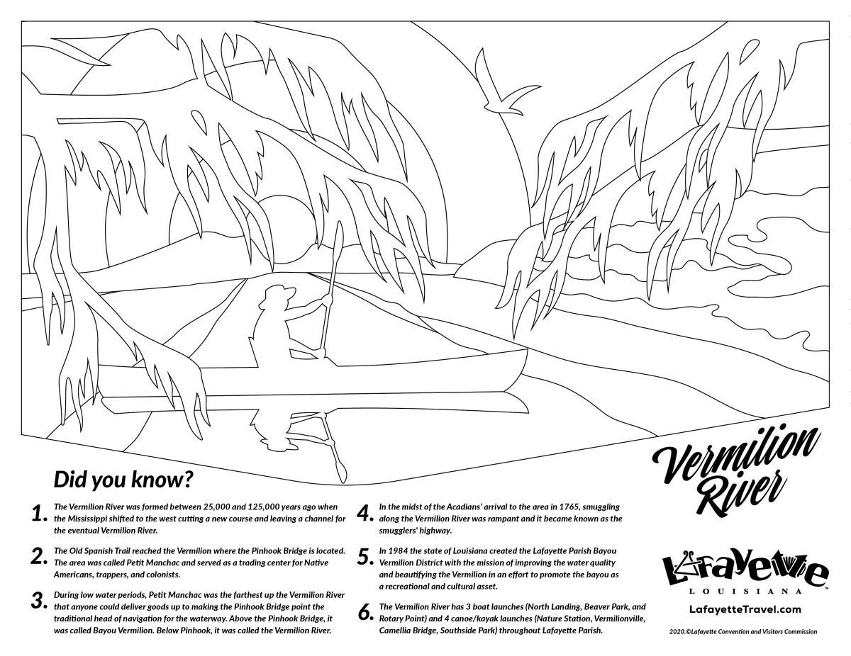 Bayou Vermilion Coloring Sheet