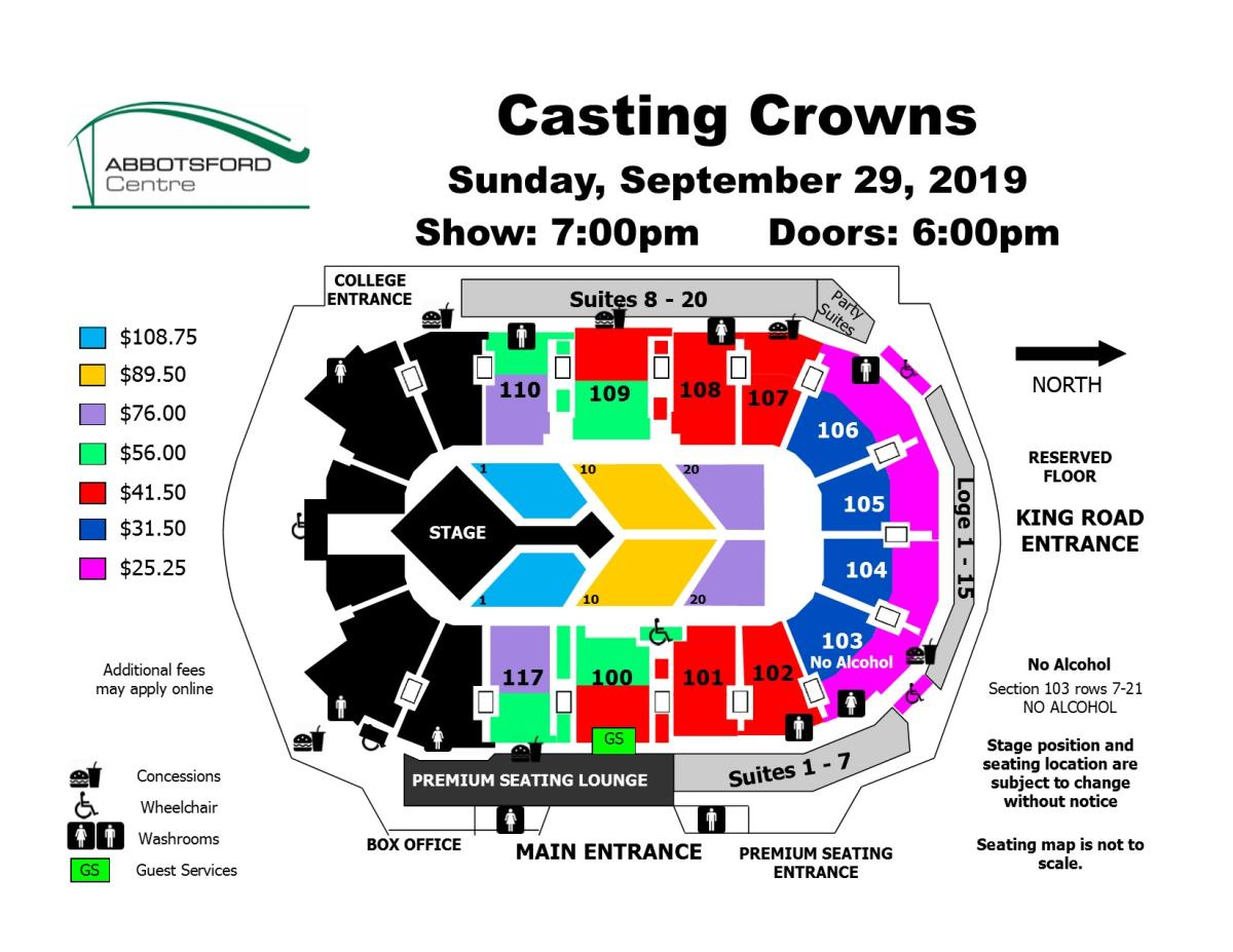 Casting Crowns Seat Map