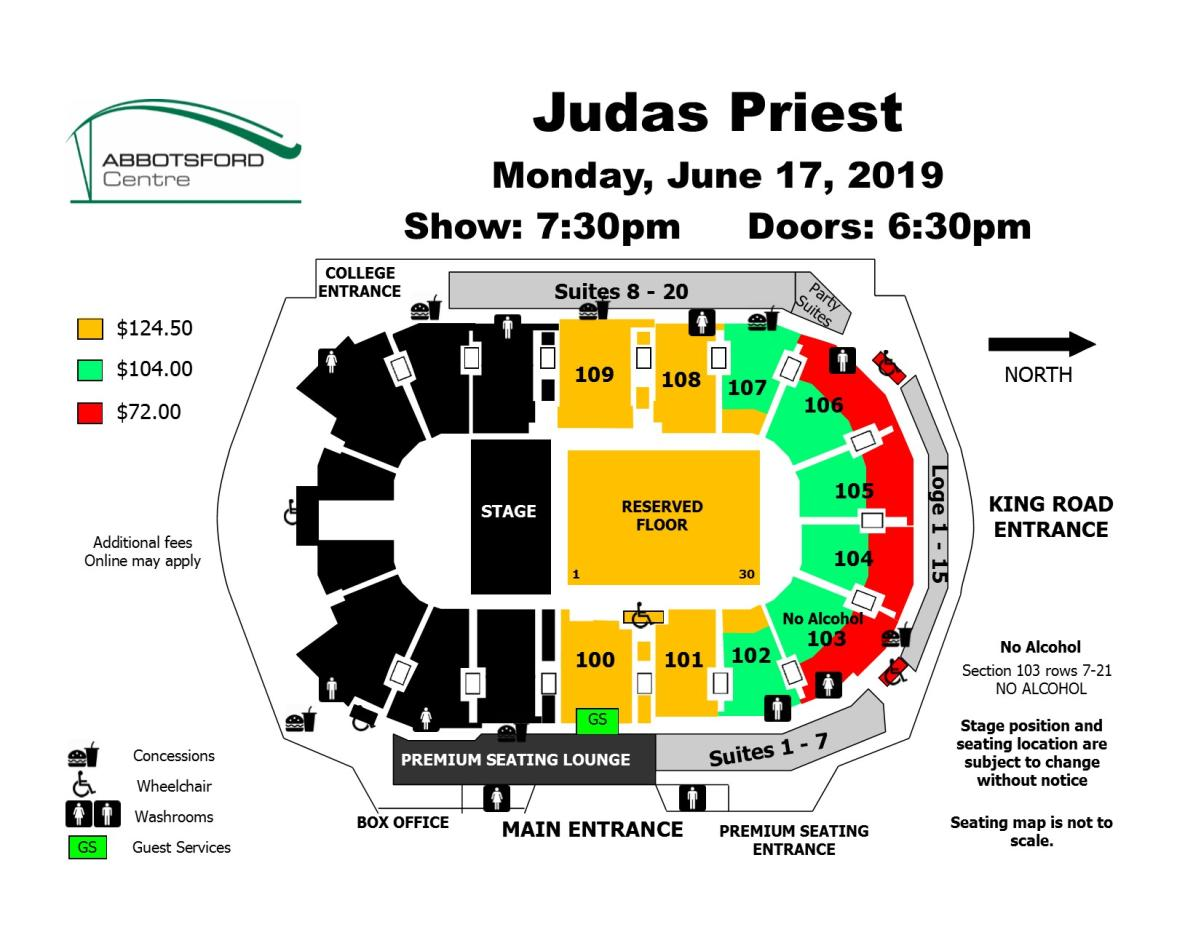 Judas Priest Seating Map