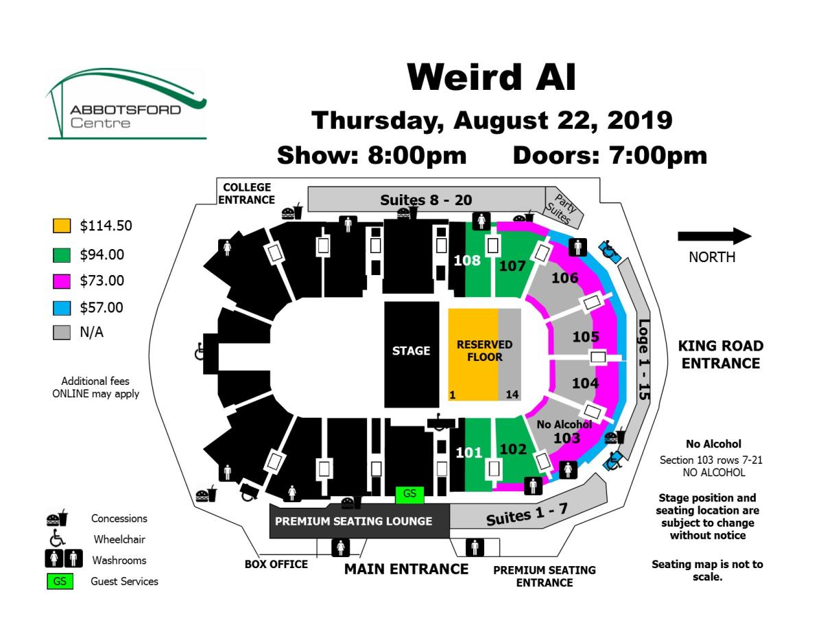 Weird Al Seat Map