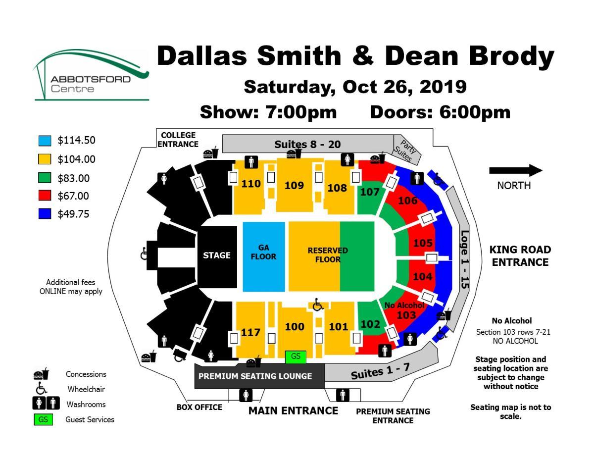 Dallas Smith & Dean Brody Seat Map