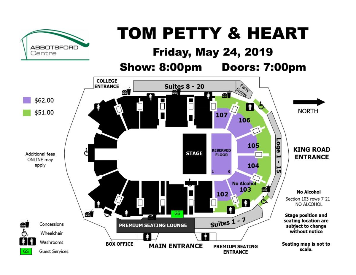 Heart - Petty Seat Map