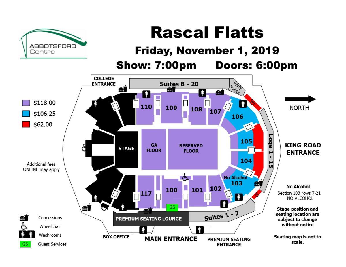 Rascal Flatts Seating Map
