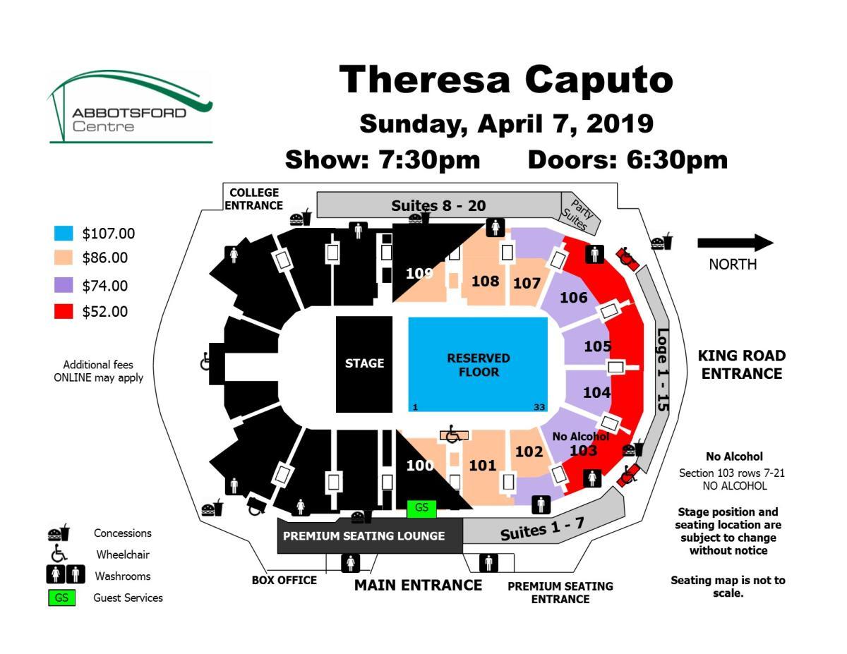 Theresa Caputo Seating Map