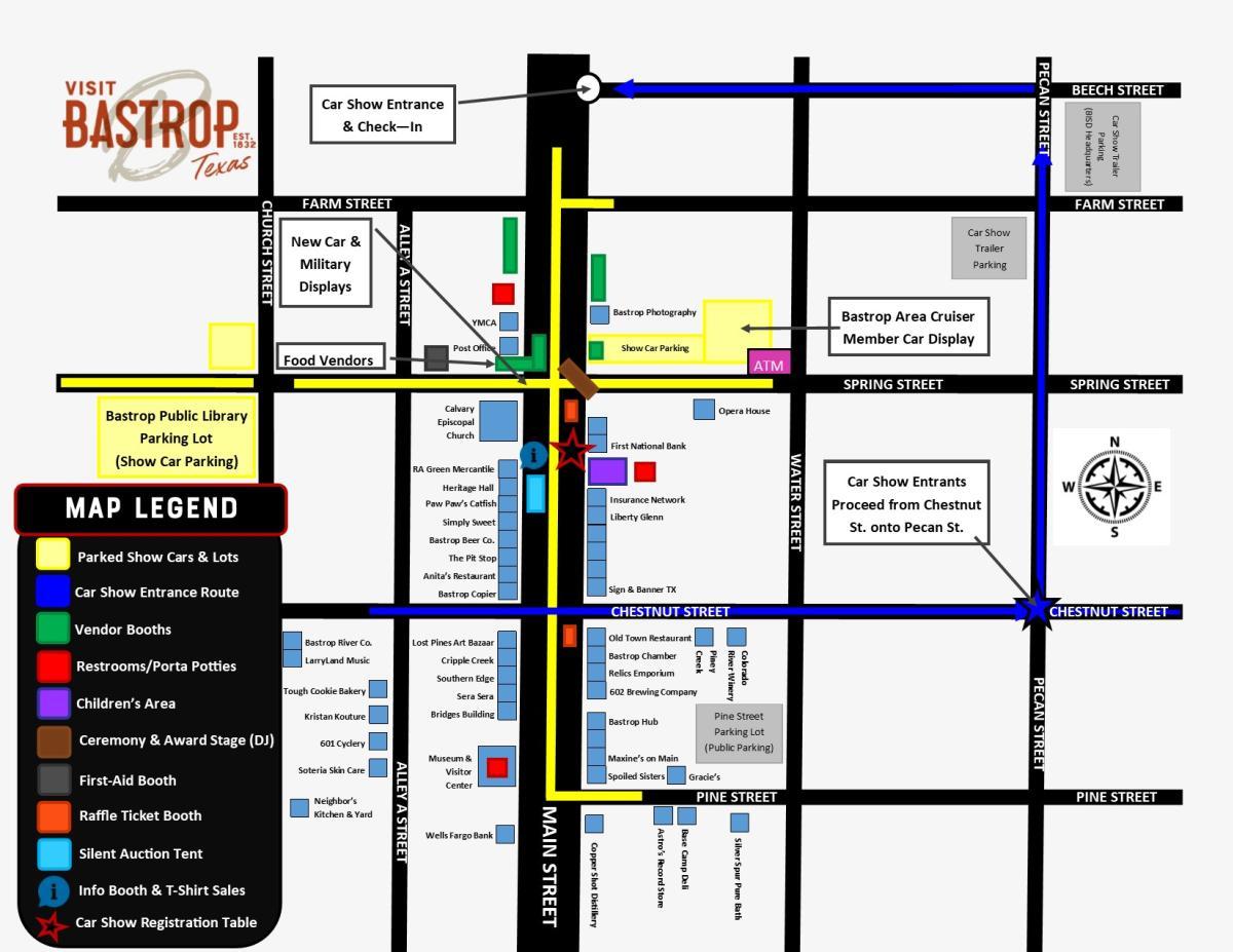 Car Show Map 2019