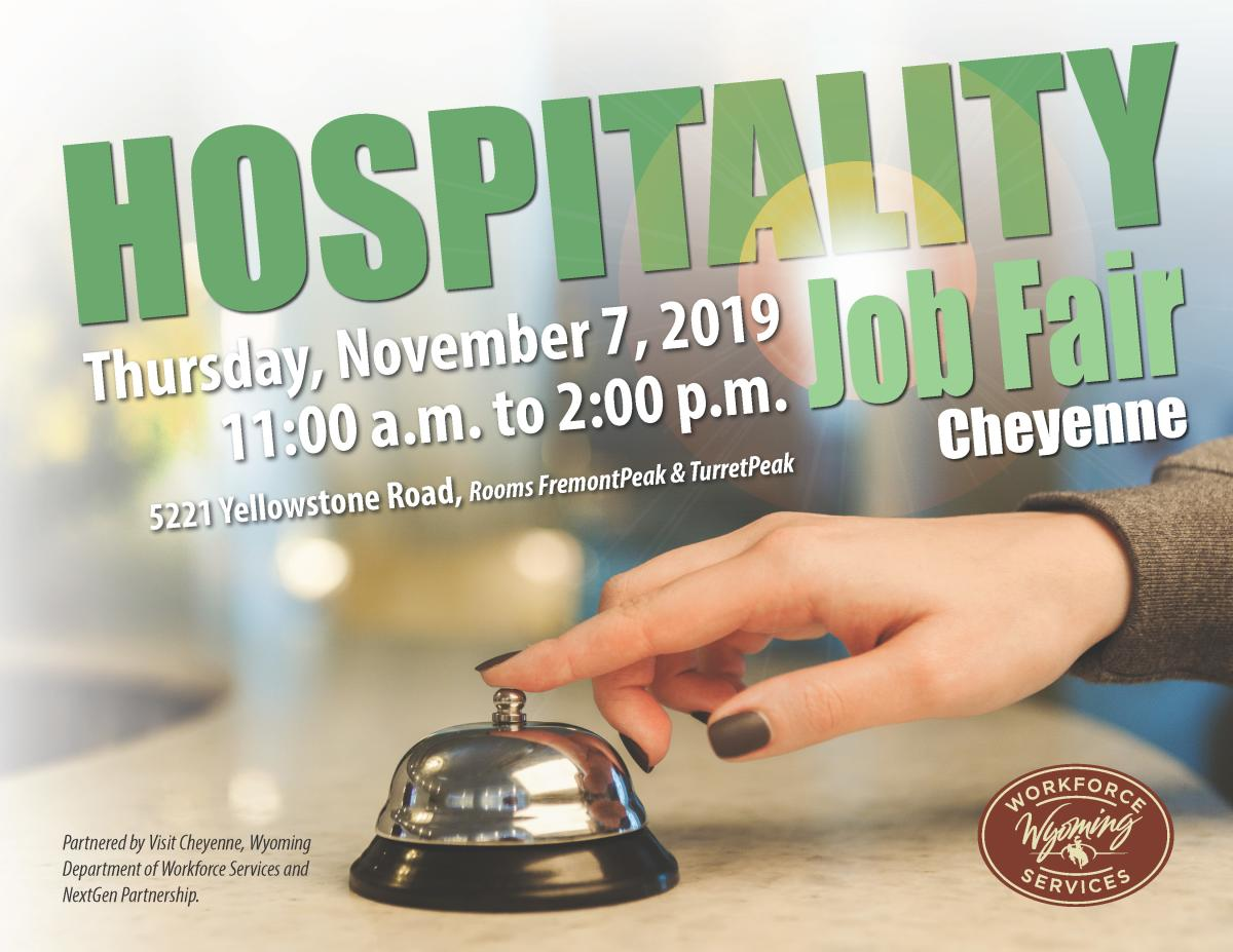 Hospitality Jobs Fair Flyer Nov 2019