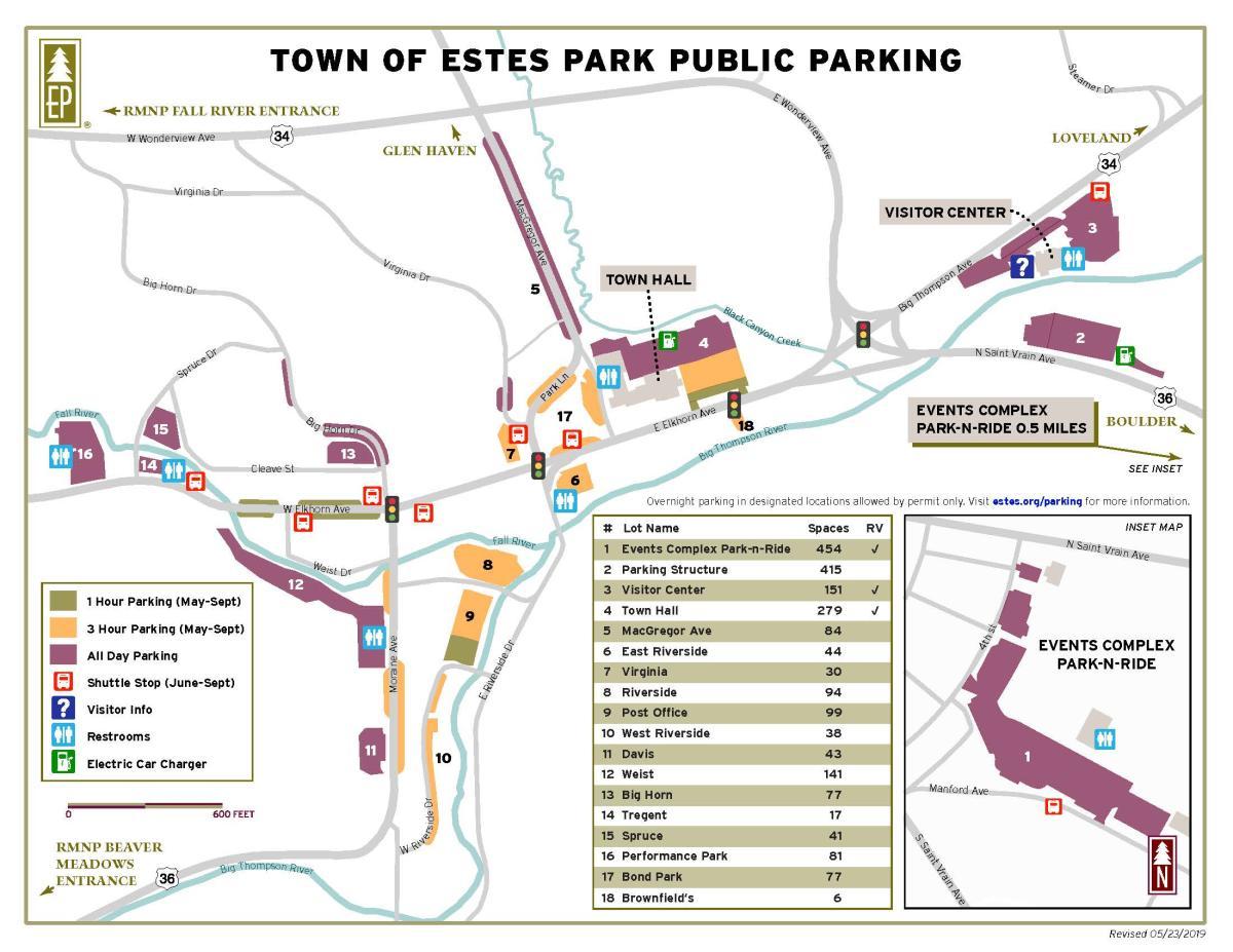 2019 Public Parking Map