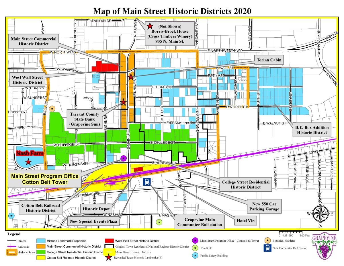 Historic Districts Map - 2020