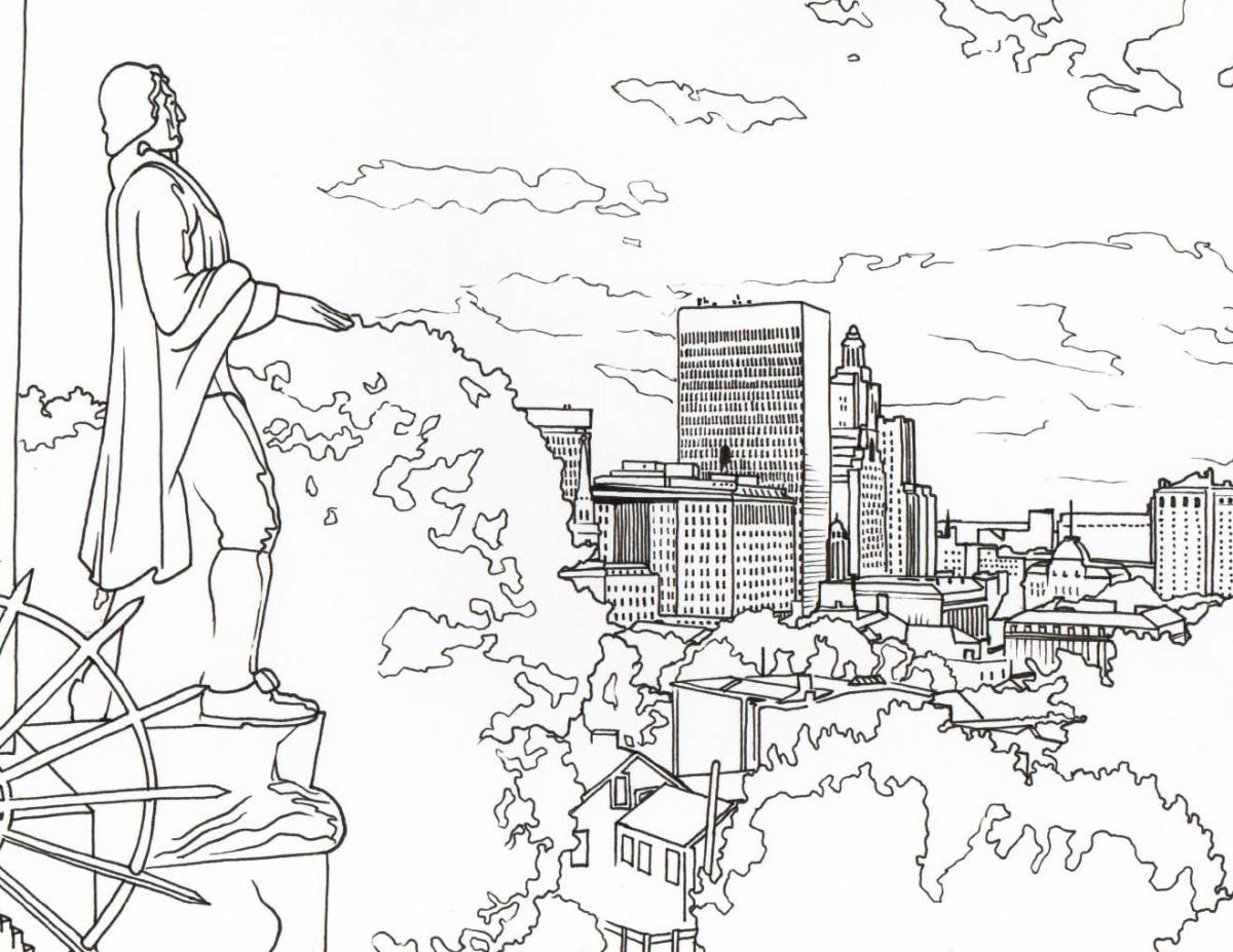 Prospect Park coloring page