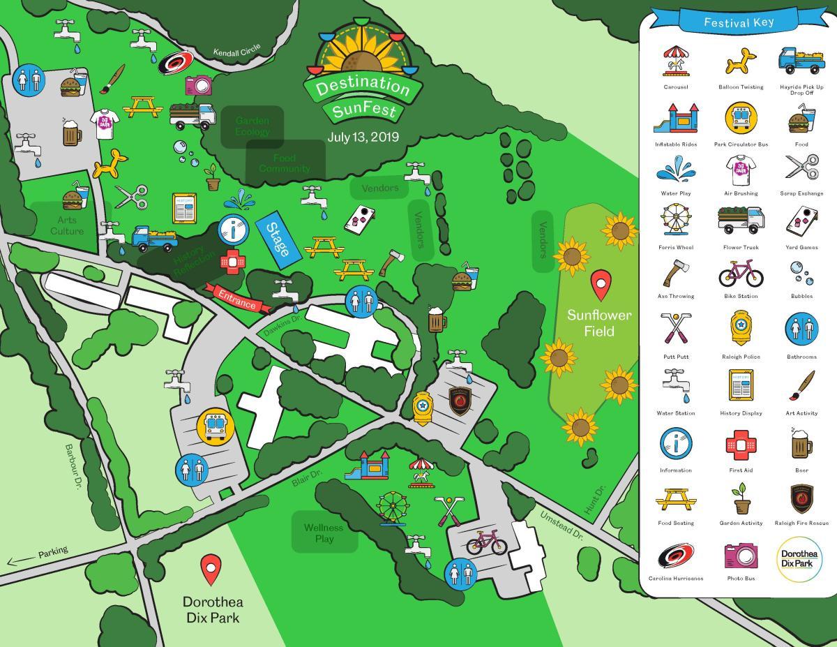 Destination SunFest map