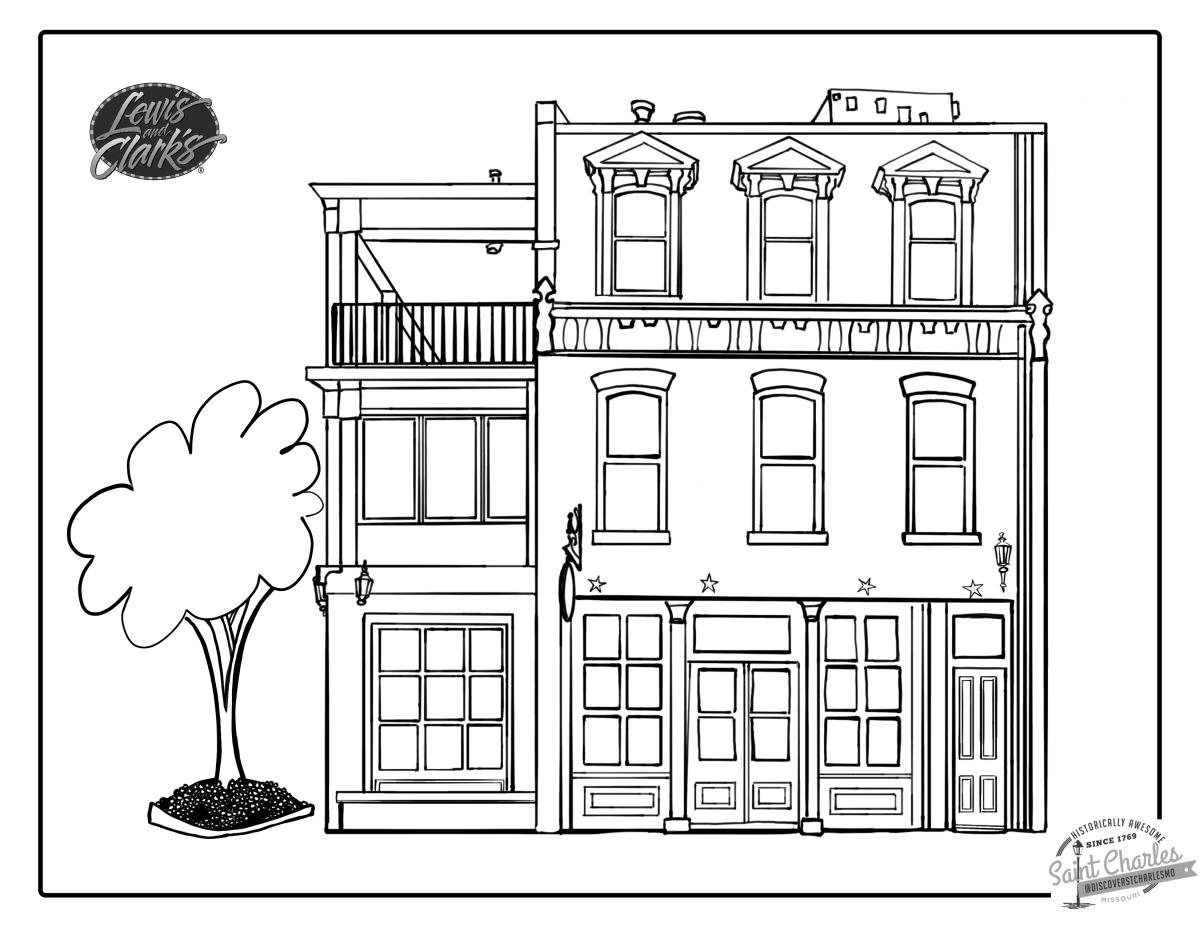 Lewis & Clarks Coloring Page