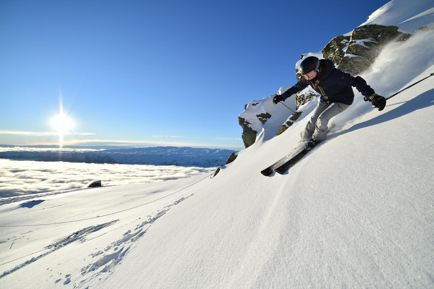 Woman skiing at Cardrona Alpine Resort