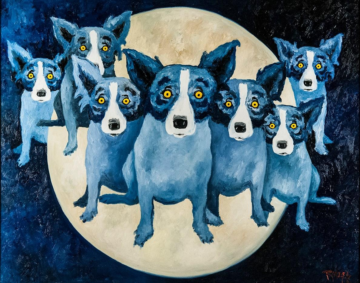 Dog artwork from the Rodrigue Art Studio