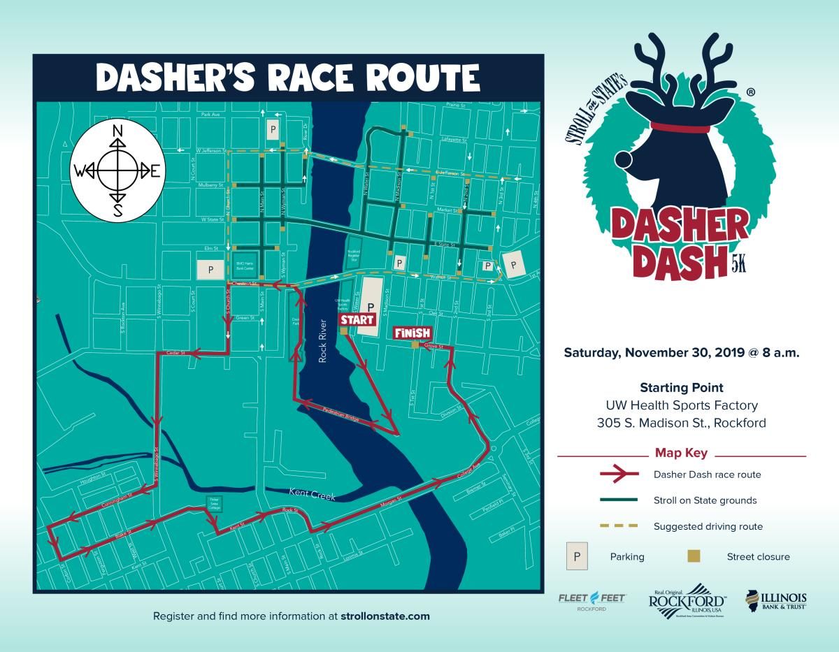 2019 Dasher Dash map