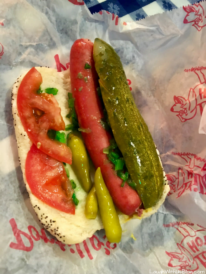 Portillo's Hot Dogs Chicago-Style hot dog in Merrillville, IN