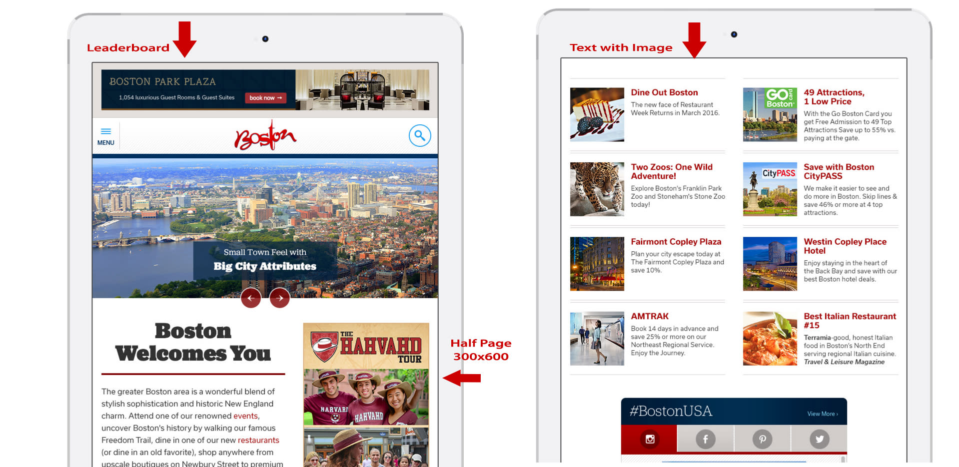 Responsive Website Tablet View