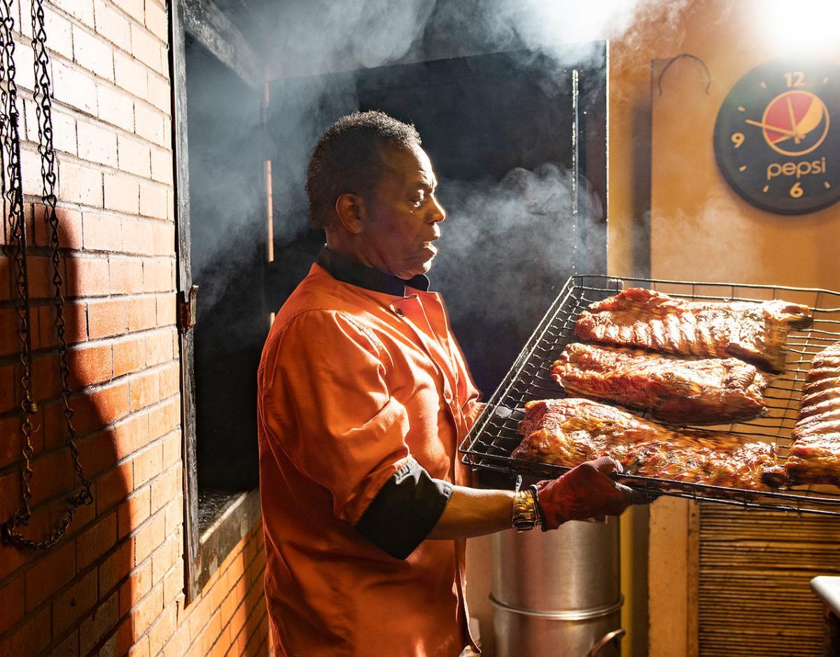 Joe Powdrell of Mr. Powdrell's BBQ House