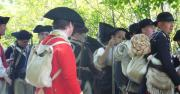 """Visit Fort Ticonderoga for its newest living history event """"Controversy, Conspiracy, and Colonial Congresses"""" on June 23rd.  Picture here, Fort Ticonderoga historic interpreters and volunteers portray soldiers at the Fort in 1775.  Photo courtesy of  George Efinger."""