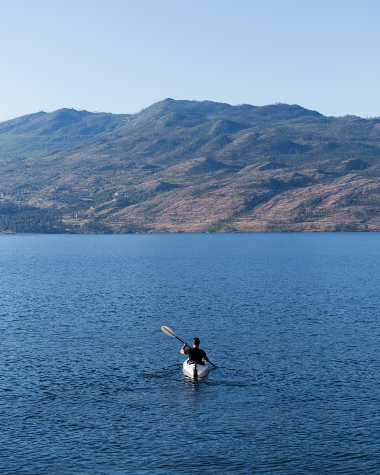 Kyaking on Okanagan Lake